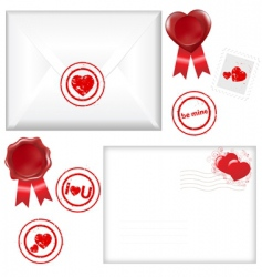 post love set vector image