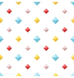 Seamless pattern with colorful flat diamonds vector image vector image