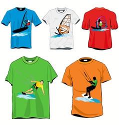 surf tshirts vector image vector image