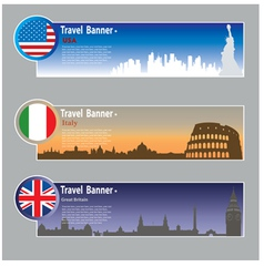 Travel banners vector image vector image