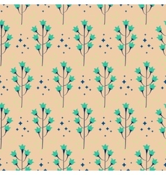 Wild bluebell flower spring field seamless pattern vector