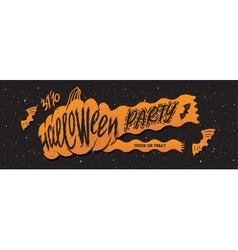 Halloween banner party vector