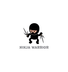 Ninja boy cartoon vector