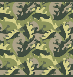 Decorative leaves against a military style vector