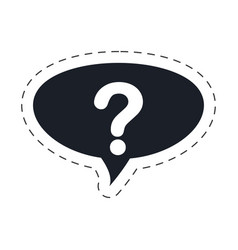 question mark bubble speech image vector image