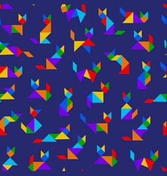 tangram cats vector image