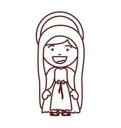 Brown silhouette of saint virgin mary vector
