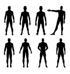 fashion man figure set vector image