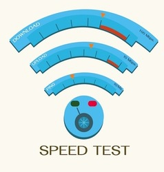 Speed internet test wifi vector