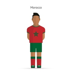 Morocco football player soccer uniform vector