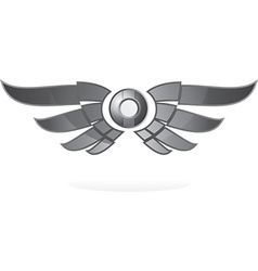 Winged emblem vector