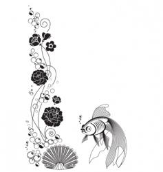 fishampflower vector image