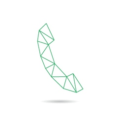 Handset icon abstract vector