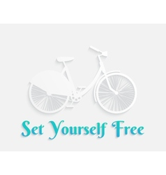 White concept bicycle vector