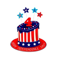 Independence day cake vector