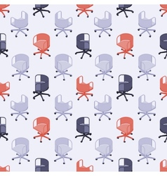 Seamless pattern with colored office chairs vector