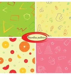 Set of seamless backgrounds for packaging or vector