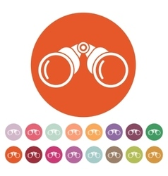 The binoculars icon search symbol flat vector