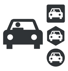 Car icon set monochrome vector