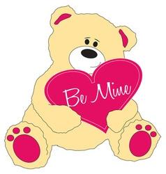 Be Mine Teddy Bear vector image