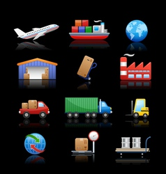 Industry logistics icons vector