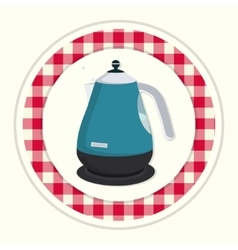 Kitchen teapot vector