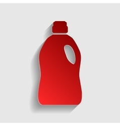 Plastic bottle for cleaning vector
