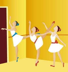 Ballerinas dancing 2 vector