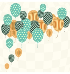 Retro pattern balloons vector