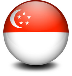 A ball with the flag of Singapore vector image vector image