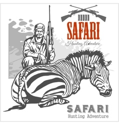 African safari and labels for vector image vector image