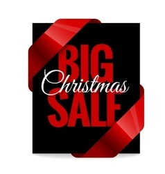 Big christmas sale black label vector