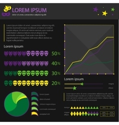 carnival celebration flat infographic vector image