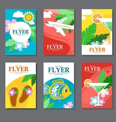 Collection of brightly colored rectangular card on vector