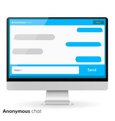 computer screen messaging text boxes empty bubles vector image vector image
