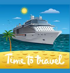 Cruise ship resort vector