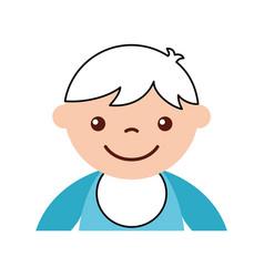 Cute boy baby avatar character vector