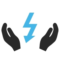 Electrical power maintenance hands eps icon vector