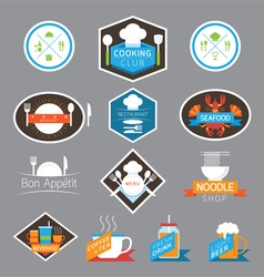 Food Beverage Cooking Labels and Badges vector image vector image