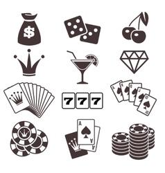 Gambling poker card game casino luck vector