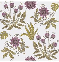 garden floral print vector image vector image