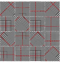 glen plaid pattern vector image vector image