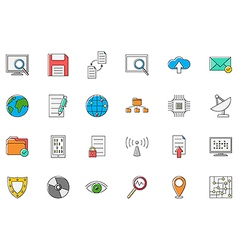 It technology colorful icons set vector
