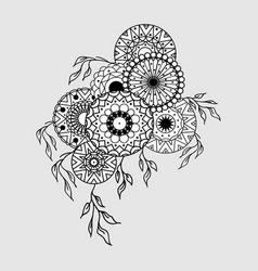 mandala composition pattern vector image