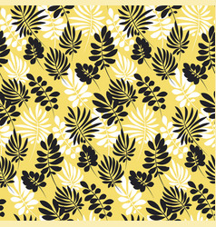 modern plant pattern vector image