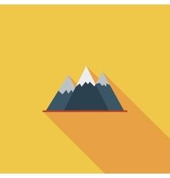 Mountain icon vector image vector image