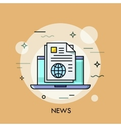 News line icon vector