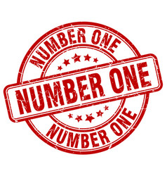 number one stamp vector image vector image