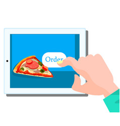 order fast food online concept vector image vector image