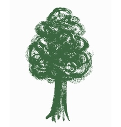 Painted tree texture vector